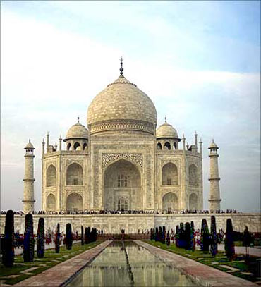 The majestic Taj Mahal.