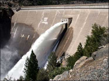 Reservoirs to release excess water.