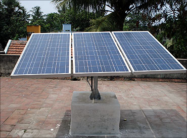 Solar panel for ATMs.