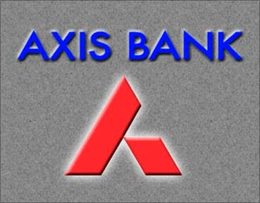 Axis Bank logo.