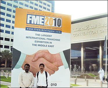 Ganapathy at a franchise meet in Dubai.