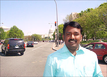 Ganapathy during a trip to the US.