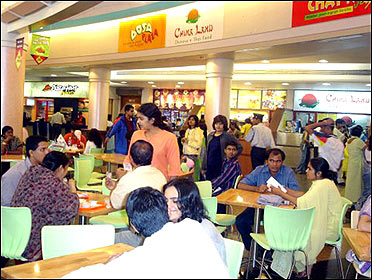 Dosa Plaza outlet inside a mall.