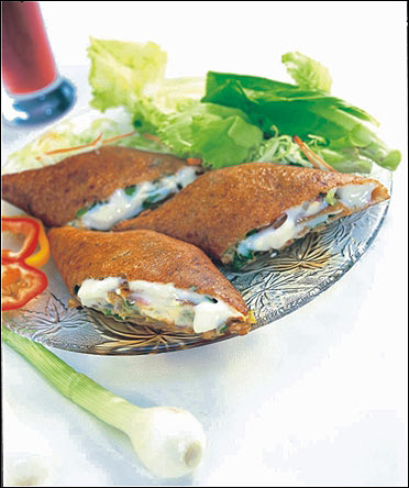 Salad roast dosa.