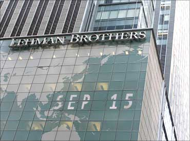 The Lehman Bros headquarters.