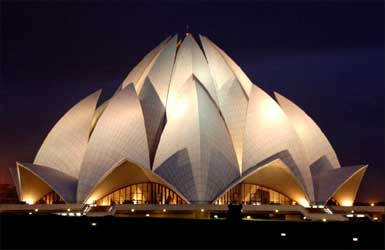 The Lotus Temple, New Delhi.