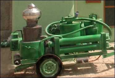 Bio-mass gasifier.