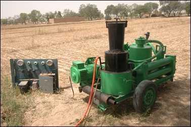 Rai Singh's gasifier.