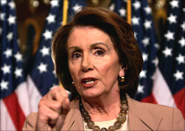 Nancy Pelosi, Speaker of the US House of Representatives.
