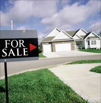 The recession has hurt the USA real estate market.