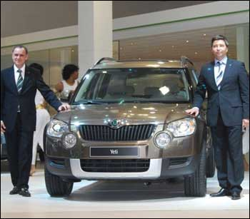 Skoda lifted the veil off SUV Yeti for the first time in India at the 10th Auto Expo 2010 in New Delhi.