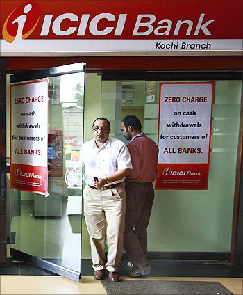 An ICICI Bank ATM.