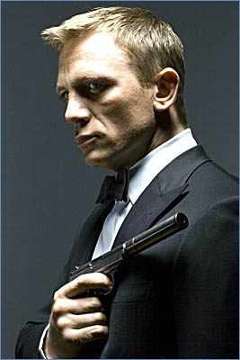 Daniel Craig as James Bond. MGM has the rights to the James Bond franchise.