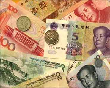 Chinese currency.
