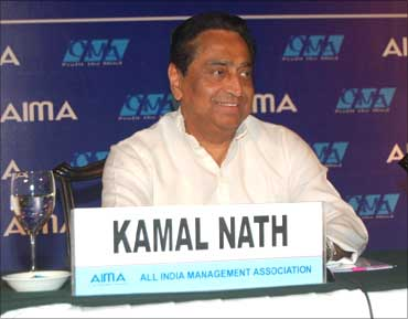 Kamal Nath, Union Minister of Road Transport and Highways at the AIMA meet in Kolkata.