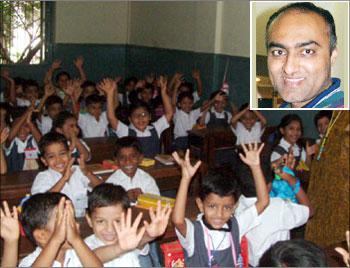 (Inset) Srikanth Nadhamuni, founder, GlobeTrades Inc.