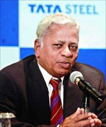 Tata Steel vice chairman B Muthuraman.