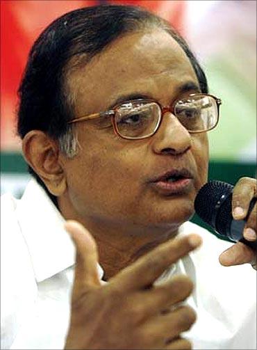Union Home Minister P Chidambaram.
