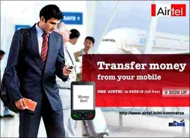 Money transfer through mobile.