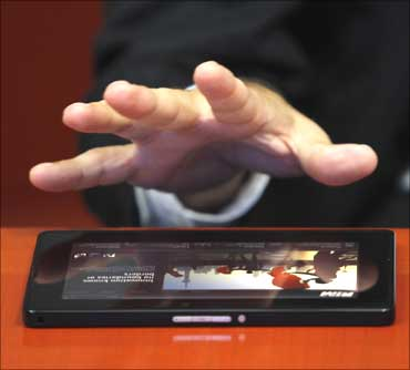 RIM's co-CEO Jim Balsillie discusses the new BlackBerry PlayBook device during an interview with Reuters.