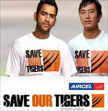 Save our Tigers campaign by Dentsu.