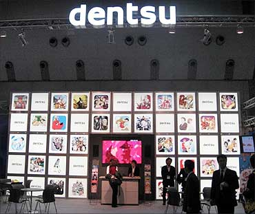Dentsu grows.