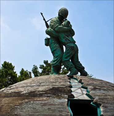 Statue of Brothers, Seoul war memorial, South Korea.