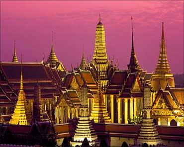 Emerald Buddha Temple, Bangkok, Thailand.