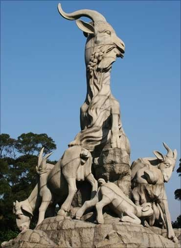 The goat statue, a symbol of Guangzhou City, China.