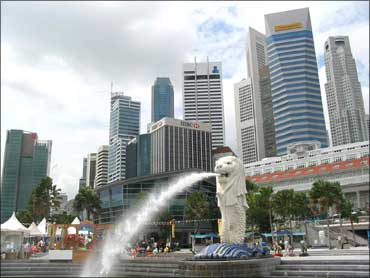 The business district in Singapore.