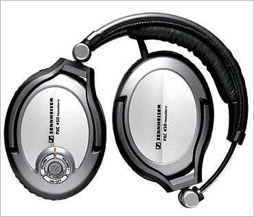 Noise-cancelling headphones.