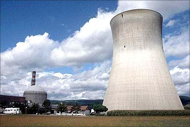 Nuclear power plant.