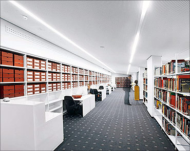 Porsche Museum library.