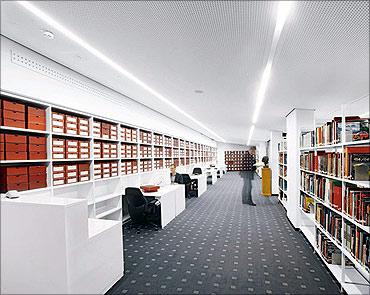 Porsche Museum library.