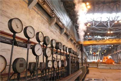 Barometers are pictured at the Pha Lai Thermal Power Plant.