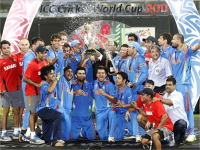 The victorious Indian cricket team.