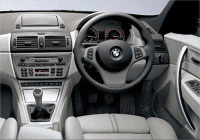 BMW X3 interior view.