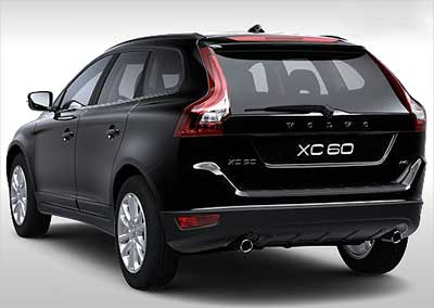 Volvo XC60 rear view.