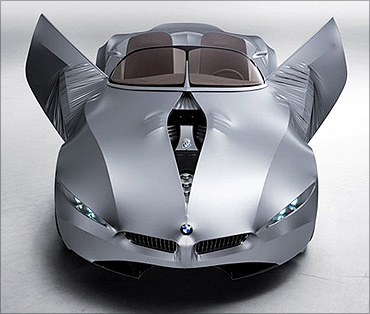 BMW Gina concept car made from cloth.