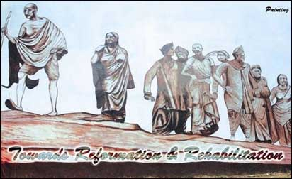 A painting by Tihar's prisoners.