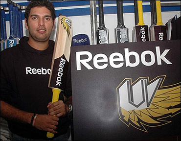 Yuvraj Singh doing Reebok ad.