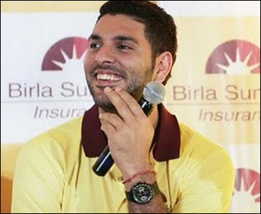 Yuvraj Singh in Birla Sun Life advt.