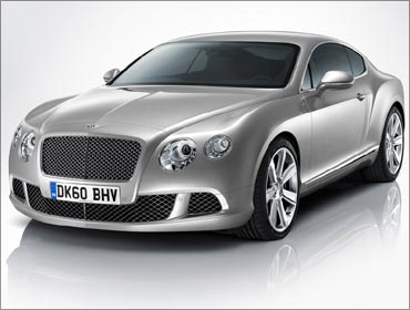 The Bentley Continental GT luxury sedan.