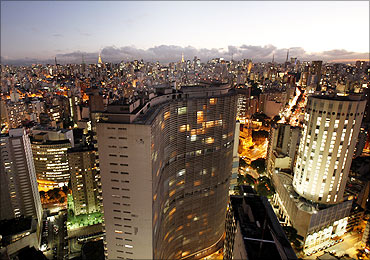 A general view of Sao Paulo.