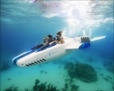 Necker Nymph, Virgin Oceanic's solo-piloted 'flying' mini-submarine.