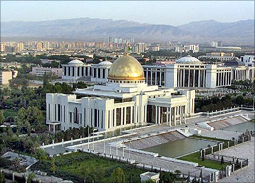 Gas, oil and oil products make up 80 per cent of Turkmenistan's exports.