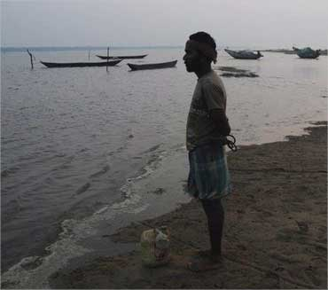 Sumonto Behera, a fisherman from Nolia Sahi