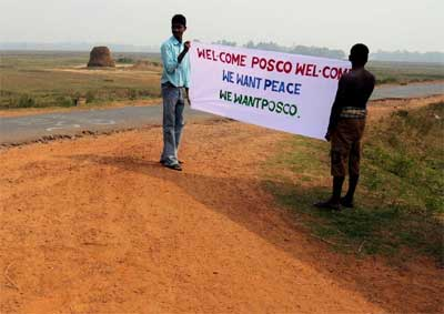 'We want peace. We want Posco'
