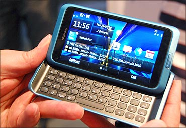 Nokia E7 seems to be the answer to iOS and Android.