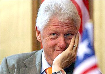 Bill Clinton attended a meeting before he became president.